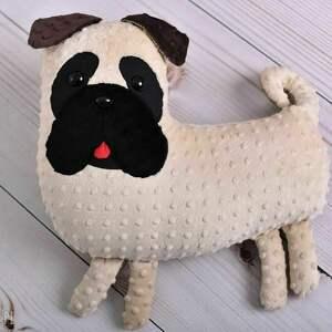 unikatowe maskotki mops przytulanka dziecięca pies