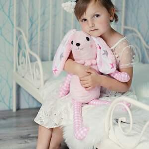 maskotki: Przytulanka dziecięca królik 2 kolory poduszka
