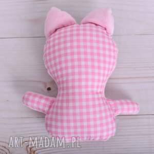 maskotki poduszka-minky przytulanka dziecięca kotek z