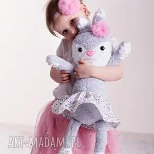 ręczne wykonanie maskotki pomysł-na-prezent przytulanka dziecięca królik