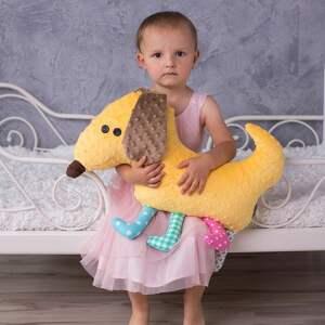 niebanalne maskotki poduszka pies przytulanka dziecięca