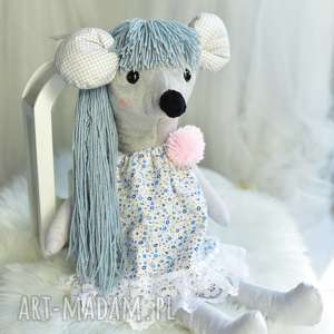 hand made maskotki pomysł-na-prezent przytulanka dziecięca myszka w