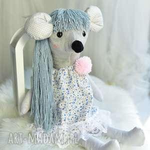hand made maskotki pomysł-na-prezent przytulanka dziecięca myszka