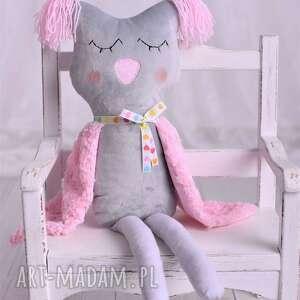 hand-made maskotki pomysł-na-prezent przytulanka dziecięca sowa