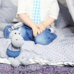 handmade maskotki włóczka przytulanka hipopotam romek