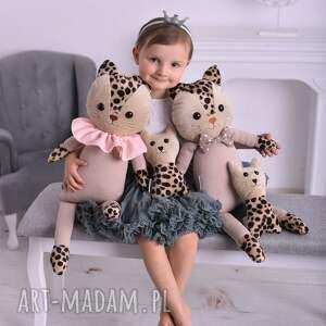 hand-made maskotki poduszka-kot rodzina kotów - 4 elementy
