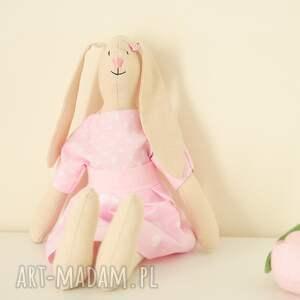 maskotki królik słodka różowa królisia - zosia