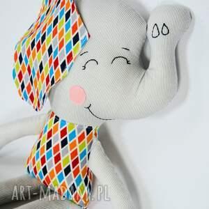 słoń maskotki białe farciarz - maks