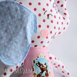 niebieskie maskotki dziewczynka słoń farciarz - emma