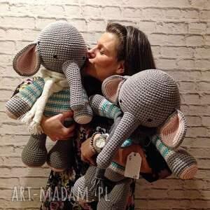 unikatowe maskotki prezent słoń gigant - szydełkowy przyjaciel