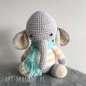 eleganckie maskotki chrzest słoniątko florek - mini słonik