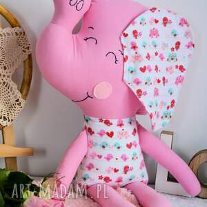 słonik maskotki różowe duży kasia 46