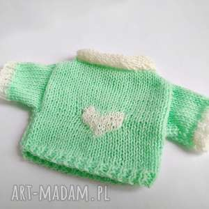 sweterek maskotki turkusowe dla misia