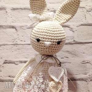 maskotki baby girl szydełkowa królisia nela