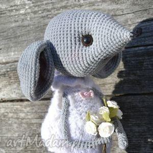 szydełko maskotki różowe szydełkowa maskotka - myszka zosia