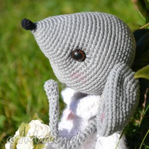 maskotki szydełko szydełkowa przytulanka, myszka