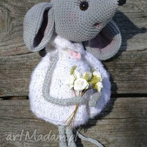 szydełko maskotki różowe szydełkowa przytulanka, myszka