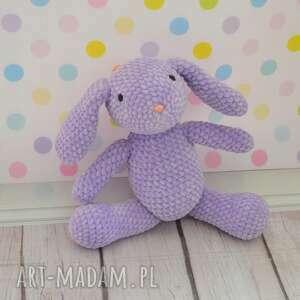 maskotki królik szydełkowy mały króliczek - fiolet.
