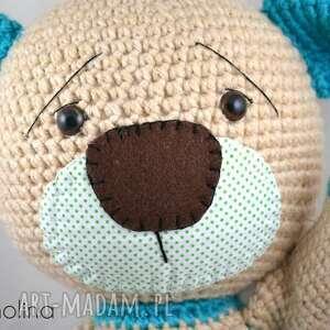 handmade maskotki miś szydełkowy stefan