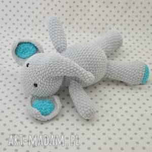 eleganckie maskotki słoń szydełkowy słonik buniek