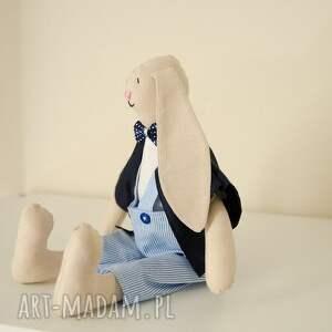 niebieskie maskotki dziecko uroczy pan królik - idealny