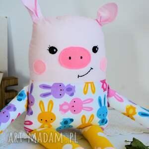 ręcznie robione maskotki świnka wesoła - baśka