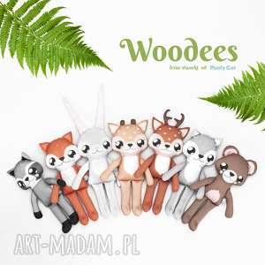 szare maskotki wilk wilczek woodees - leśne stworki