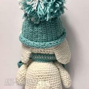 eleganckie maskotki zabawka zimowy króliczek