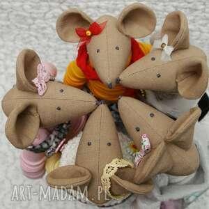 złote maskotki myszka złota przyjaciółka