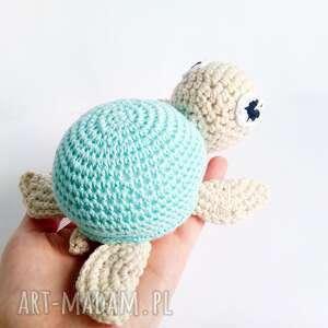 niesztampowe maskotki przytulanka żółwik leon