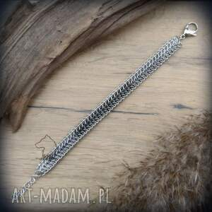 męska aluminiowa bransoleta