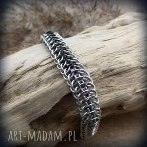 wyjątkowe męska chainmaille aluminiowa bransoleta