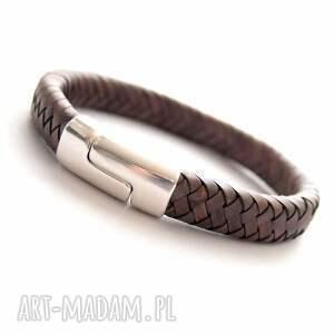 handmade męska skóra bransoletka skórzana mezi
