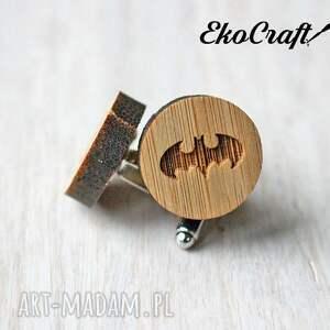 brązowe męska mankietów drewniane spinki do