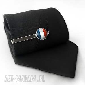 męska spinka flaga francji - do krawata