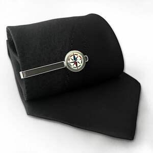 handmade męska kompas - spinka do krawata