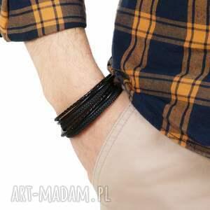 bransoletki męska modna bransoletka skórzana