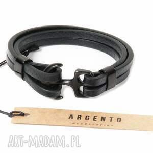Argento akcesoria męska: Modna bransoletka skórzana rzemień bransoletki