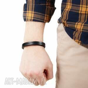 Argento akcesoria męska: Modna bransoletka skórzana rzemień bransolety