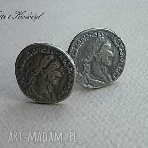 męska mankiety monety - spinki do mankietów