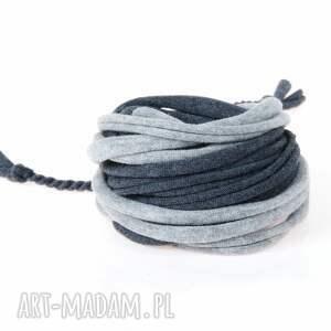 Argento akcesoria męska: Pleciona bawełniana bransoletka bransolety męskie