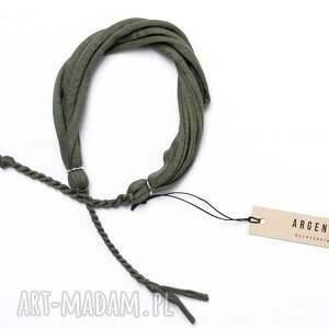 męska: Pleciona bawełniana bransoletka bransolety męskie Argento akcesoria bransoletki