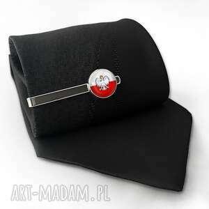 handmade męska polska polski orzełek - spinka do krawata
