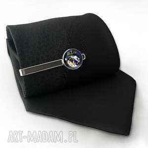 handmade męska real madryt - spinka do krawata