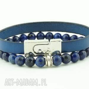 niebieskie męska lapis skóra i lazuli