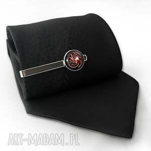 hand made męska spinka smoki - do krawata