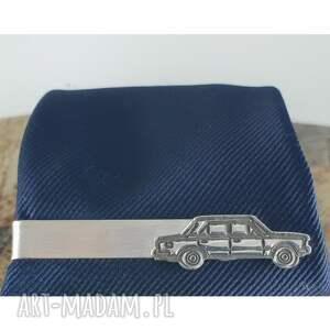 ręcznie robione męska srebro srebrna spinka do krawata z fiat