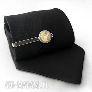 hand made męska spinka stara mapa - do krawata
