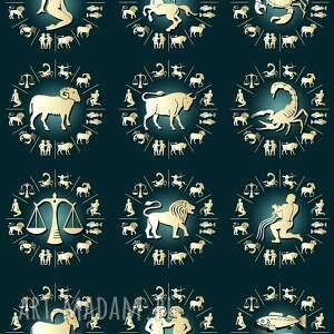 modne męska spinka zodiak - do krawata