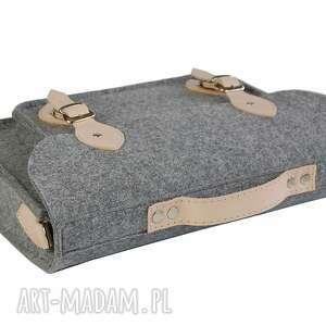 szare filcowa torba - personalizowana -
